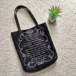 🌵Lulu Guinness Black Satin Tote Bag